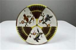 Wedgwood Majolica Bird and Fan Plate
