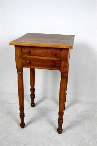 Antique Federal Poplar and Pine Work Table
