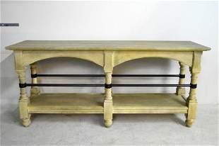 Contemporary Painted Oak Sofa Table