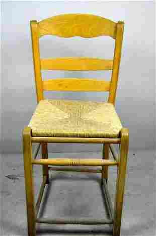 Modern Maple Rush Seat Side Chair