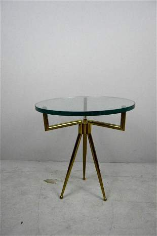 Contemporary Round Glass Side Table