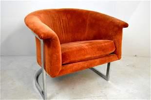 Milo Baughman Style Club Chair