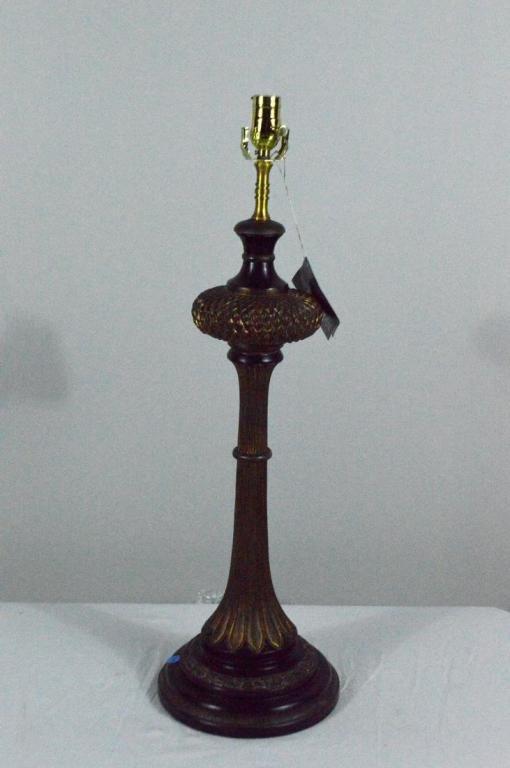 Ebonized and Parcel Gilt Lamp by John Richard