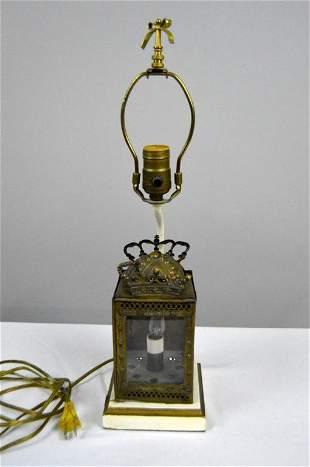 Brass Lantern as Lamp