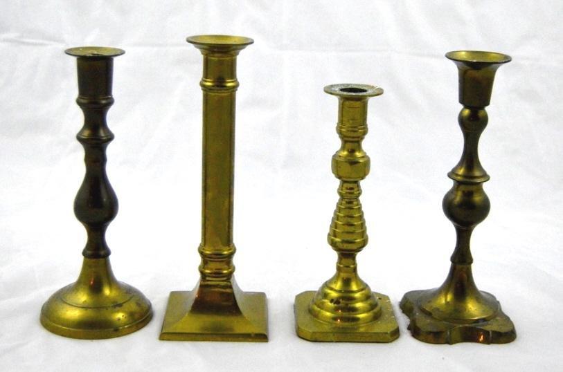 Four Brass Candlesticks
