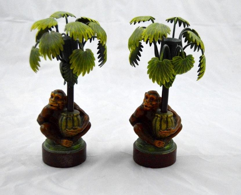 Pair of Monkey Candle Sticks
