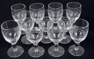 Eleven Etched Port Wine Glasses