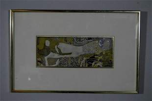 Early 20th Century Print of Reclining Woman