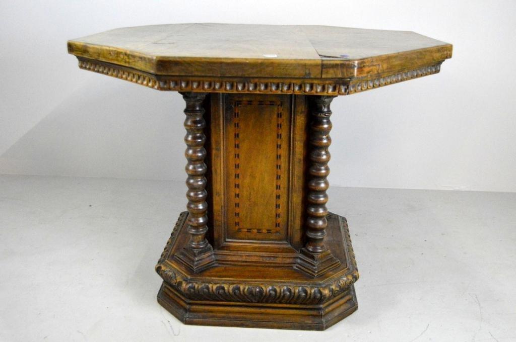 18th C. Baroque Octagonal Center Table