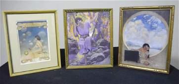 Three Maxfield Parrish (1870-1966) Prints