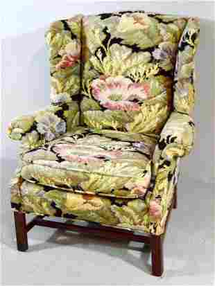 George III Style Wingback  Armchair