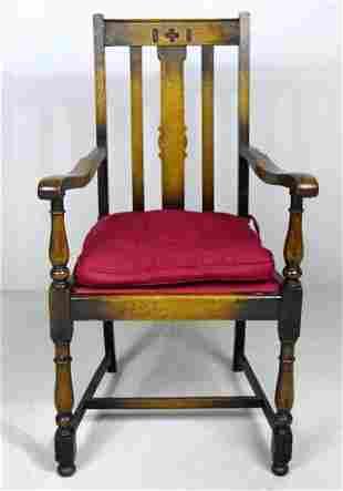 Eastlake Oak  Armchair, 19th C.