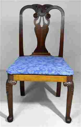 Scottish Transitional Walnut  Side Chair