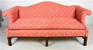 George III Style Camelback Sofa