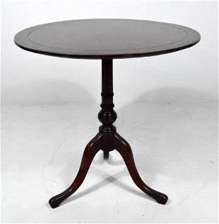 George III Mahogany Tilt-Top Tea Table