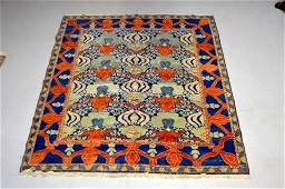 Antique Persian Lotus Pattern Area Rug