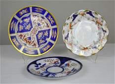 Three Gaudy Welsh Plates