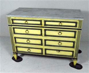 Neoclassical Style Polychrome Chest Of Drawers