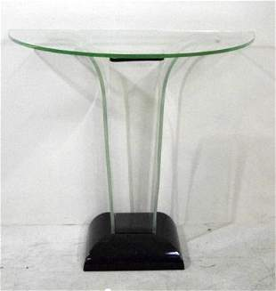 Contemporary Glass Pier Table