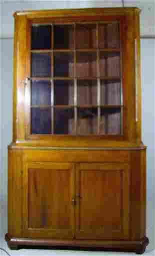 American Poplar Corner Cabinet, C. 1840