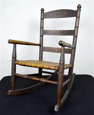 Child's Rush Seat Rocking Chair