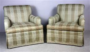 Pair of Modern Hickory Chair Club Chairs