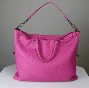 Bottega Veneta Hot Pink Convertible Shoulder Bag