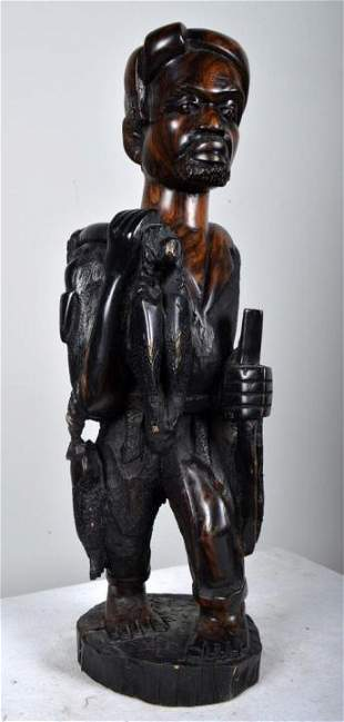 20th Century African Hunter Statue