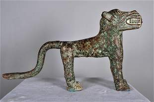 Benin Bronze of Spotted Leopard