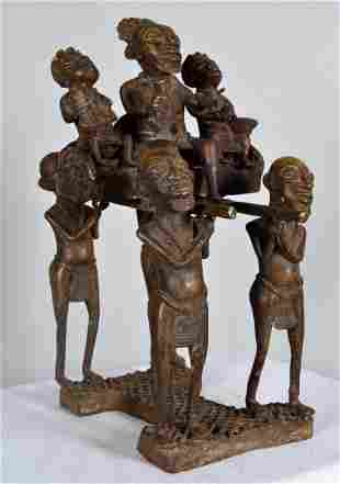 Benin Bronze of a Royal Procession
