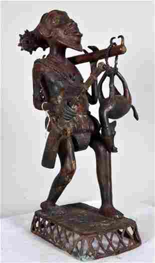 Benin Bronze of a Hunter
