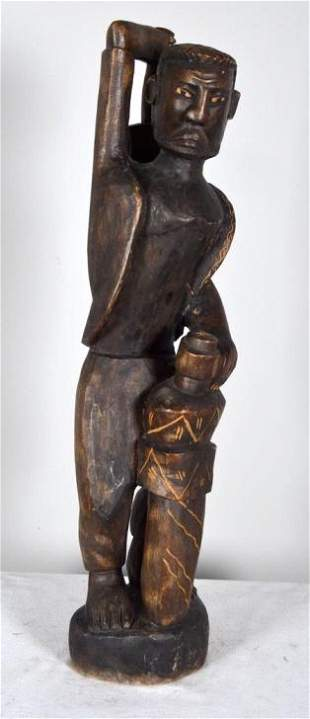 Central African Warrior Sculpture