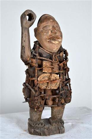 Songye Nail Fetish Figure