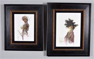Two Female Portraits (American 20th C. School)