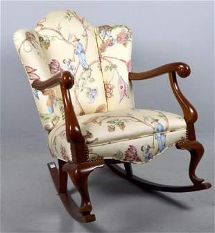Queen Anne Style Rocking Armchair
