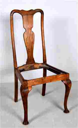 Late 19th C. Queen Anne Style Side Chair
