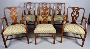 Set of Six (6) George III Style Dining Chairs