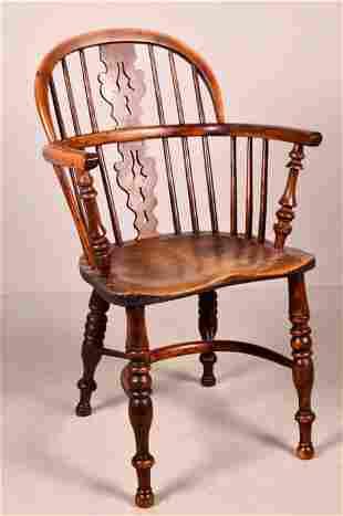 Elm Sack Back Windsor Chair