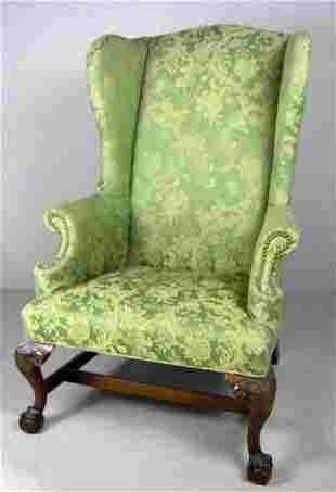 American Wingback Armchair, 19th Century