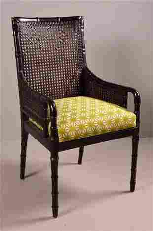 Cane Backed Arm Chair