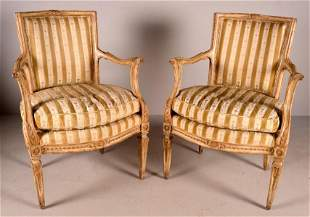 Two Louis XVI Style Armchairs