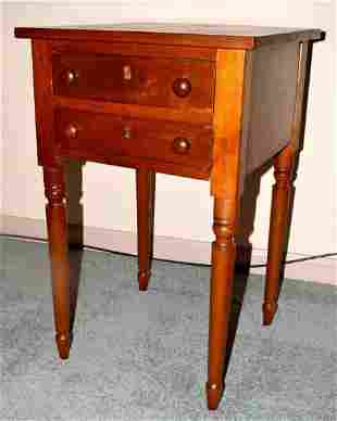 Antique Federal Cherry Work Table