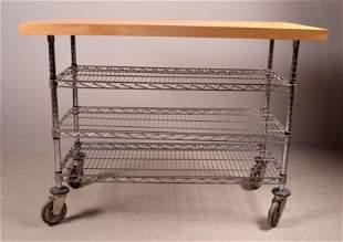 Contemporary Kitchen Work Bench