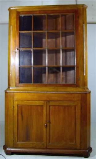 American Poplar Corner Cabinet
