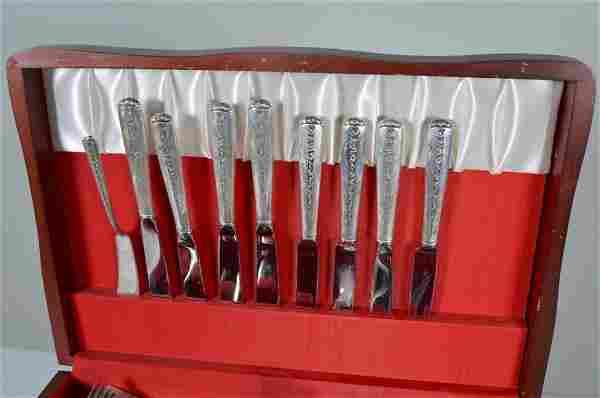 54 pc. Towle Rambling Rose Sterling Flatware Set