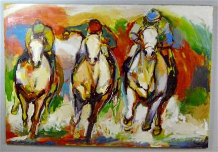 Jeaneen Barnhart, Untitled (Three Derby Horses)