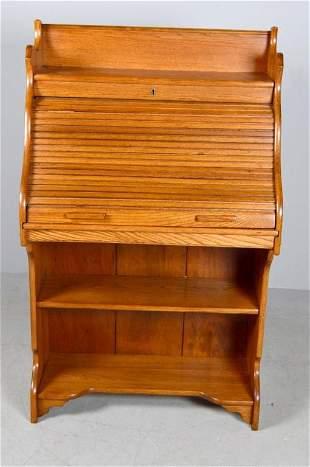 Craftsman Style Oak Rolltop Secretary
