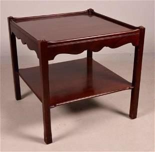 George III Style Mahogany Side Table