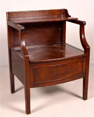 George III Mahogany Bedside Commode Table