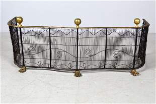 Brass and Steel Fireplace Fender